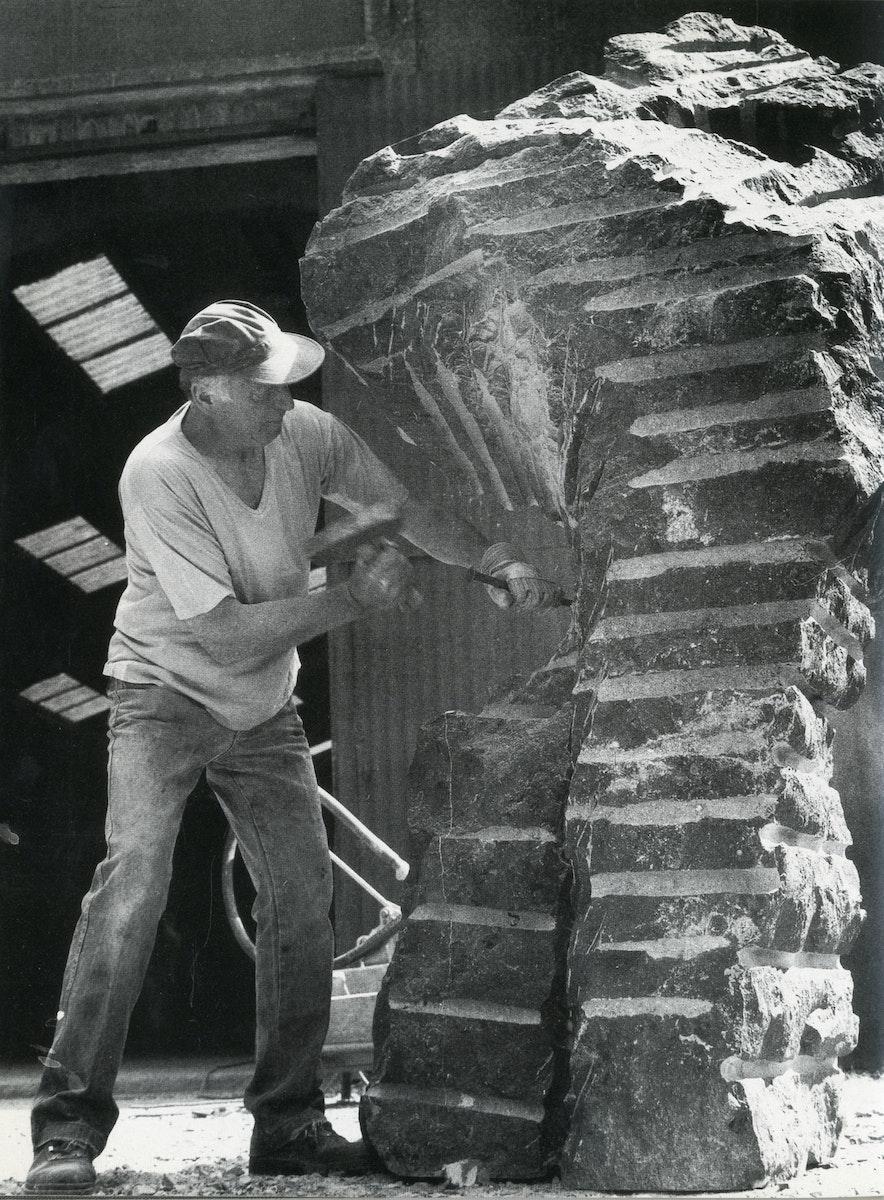 Eugène Dodeigne working