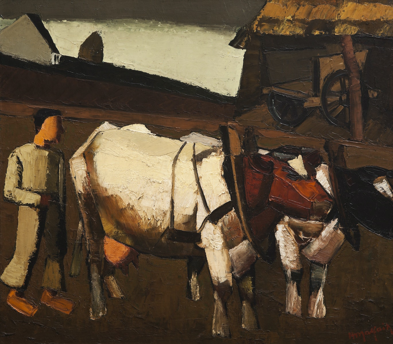 Sint-Martens-Latem, Latemse School, expressionism, Belgische Kunst, Hubert Malfait, Back to the field, cows