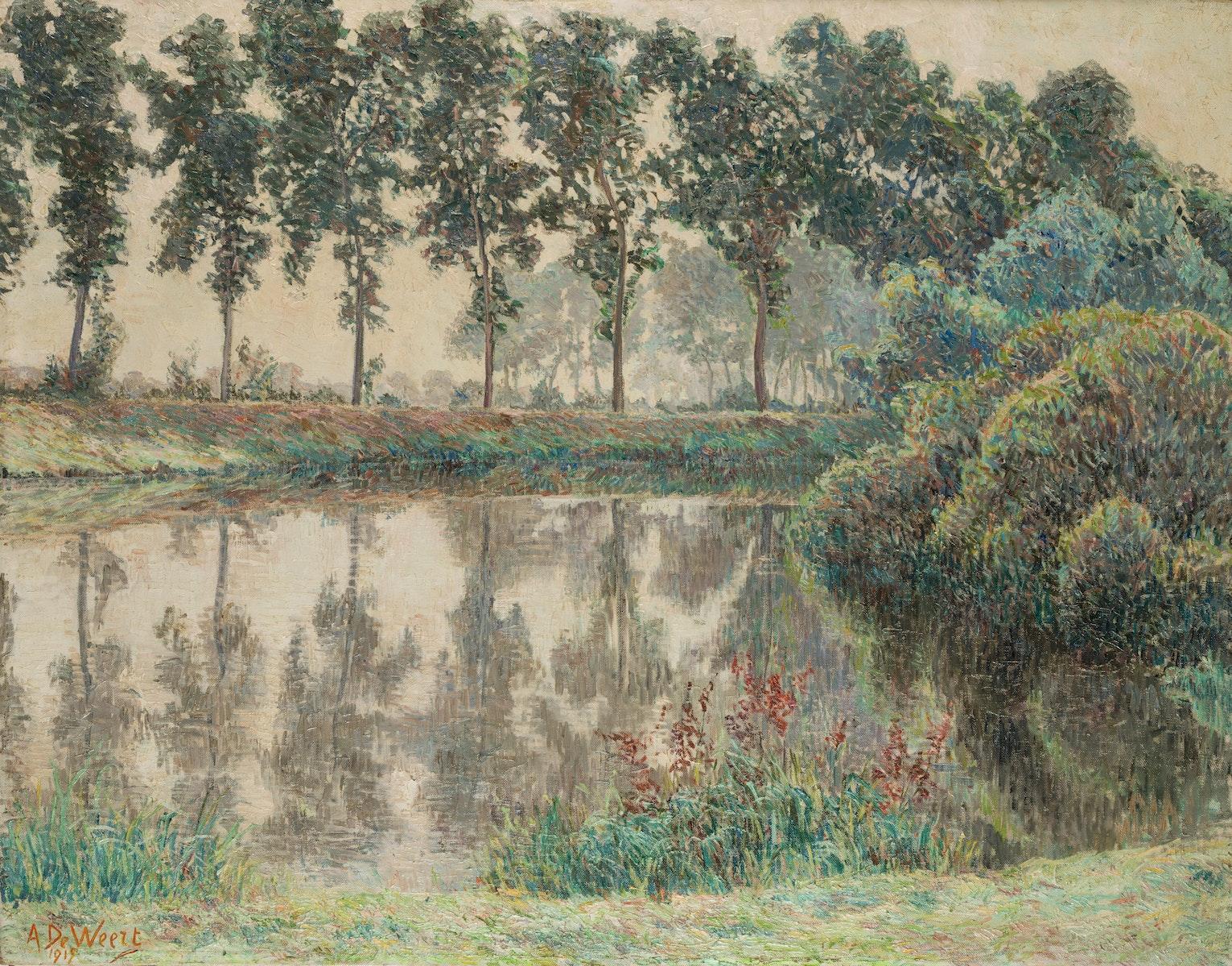 Sint-Martens-Latem, Latemse School, Impressionism, Belgische Kunst, Anna De Weert, Brume d'automne, Leie