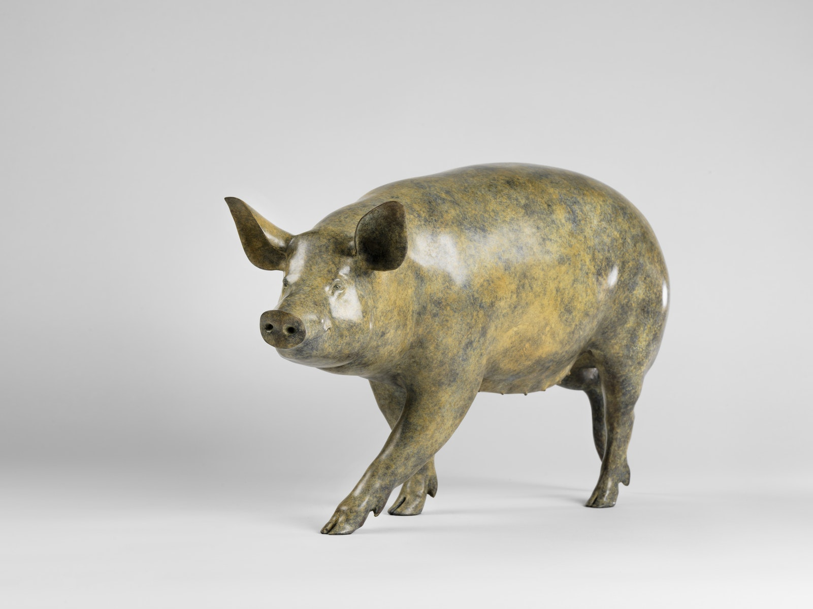 Jonathan Knight, Animalier, United Kingdom, Bronze, Pig