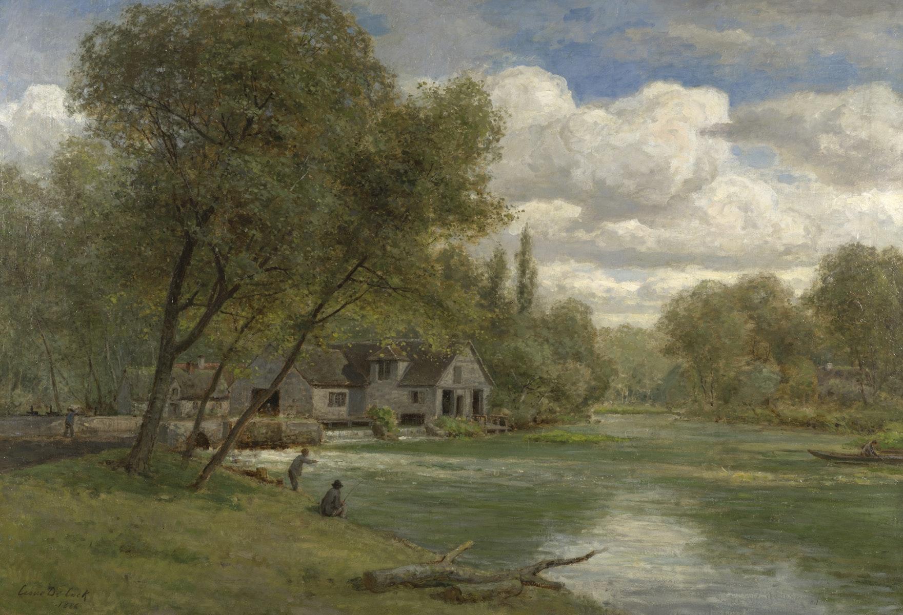 Sint-Martens-Latem, Latemse School, Impressionism, Belgische Kunst, School van Barbizon, César De Cock, l'Epte en Normandie