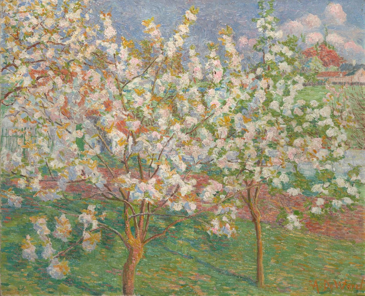 Anna De Weert, Latemse School, Belgische Kunst, Blossems, Afsnee, Impressionism